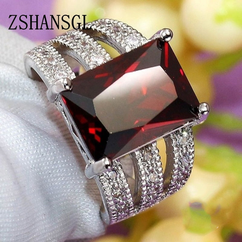 Luxury Solid 925 Sterling Silver Ring