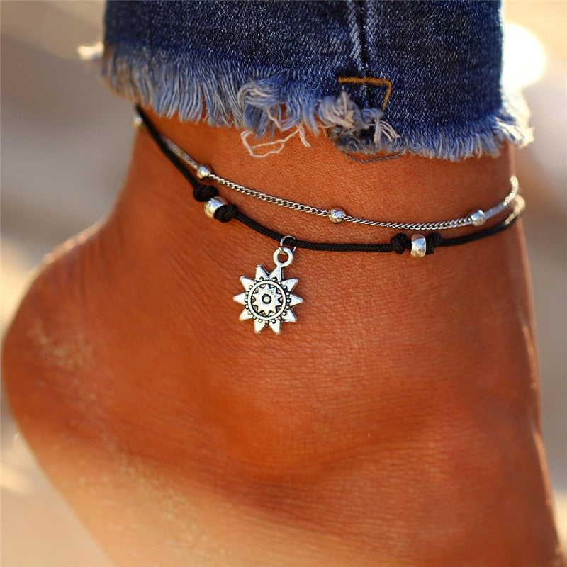 Vintage Multiple Layers Anklets