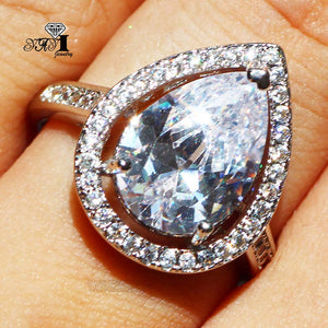 Zircon Silver Color _ Engagement Ring