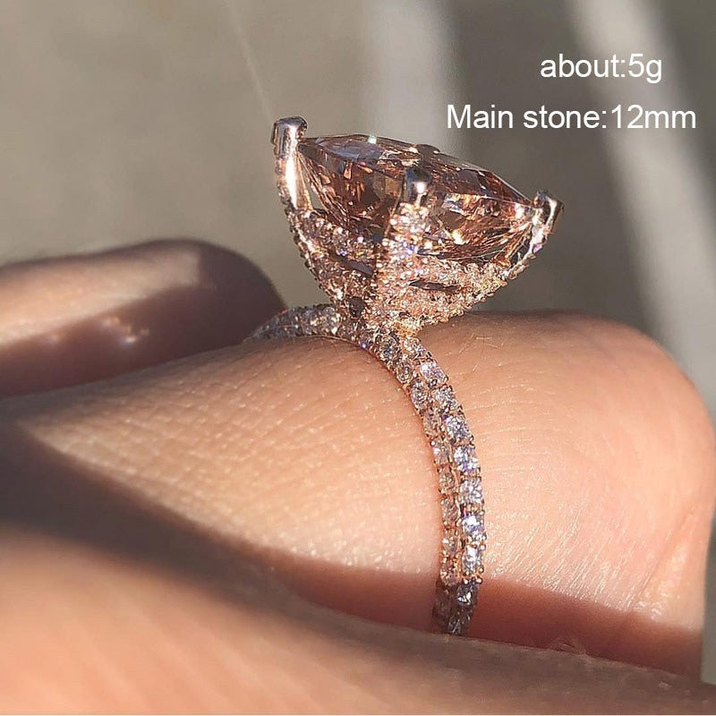 Big Champagne AAA Zircon Ring