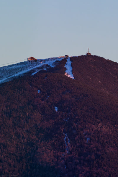 Sunset light on Cannon Mountain.