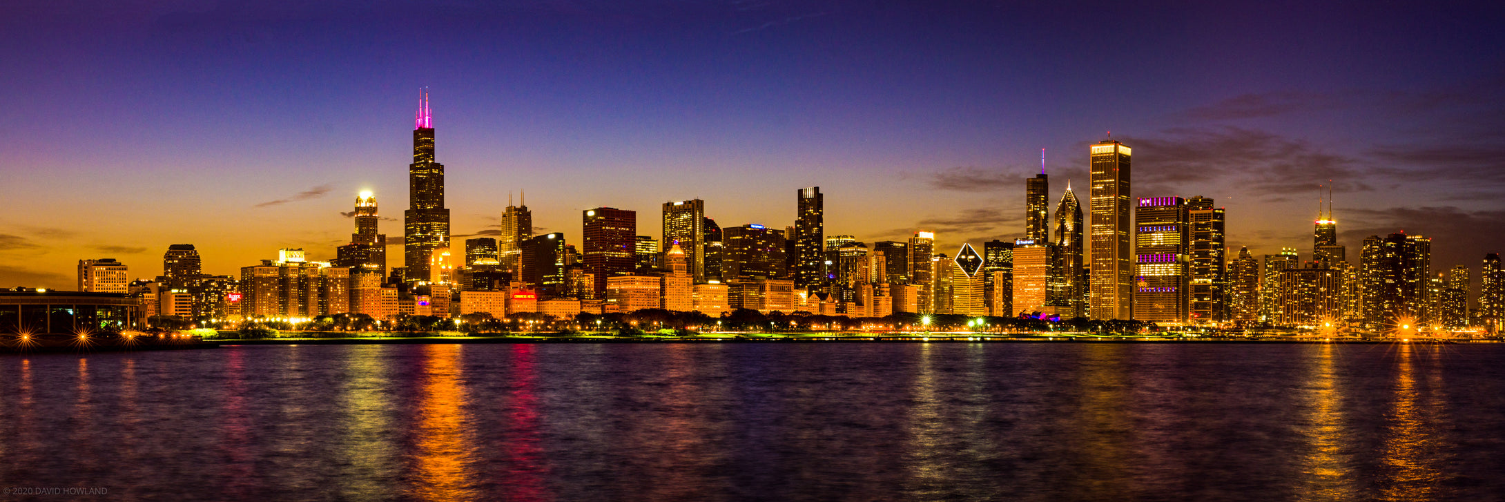 Chicago Skyline at Blue Hour