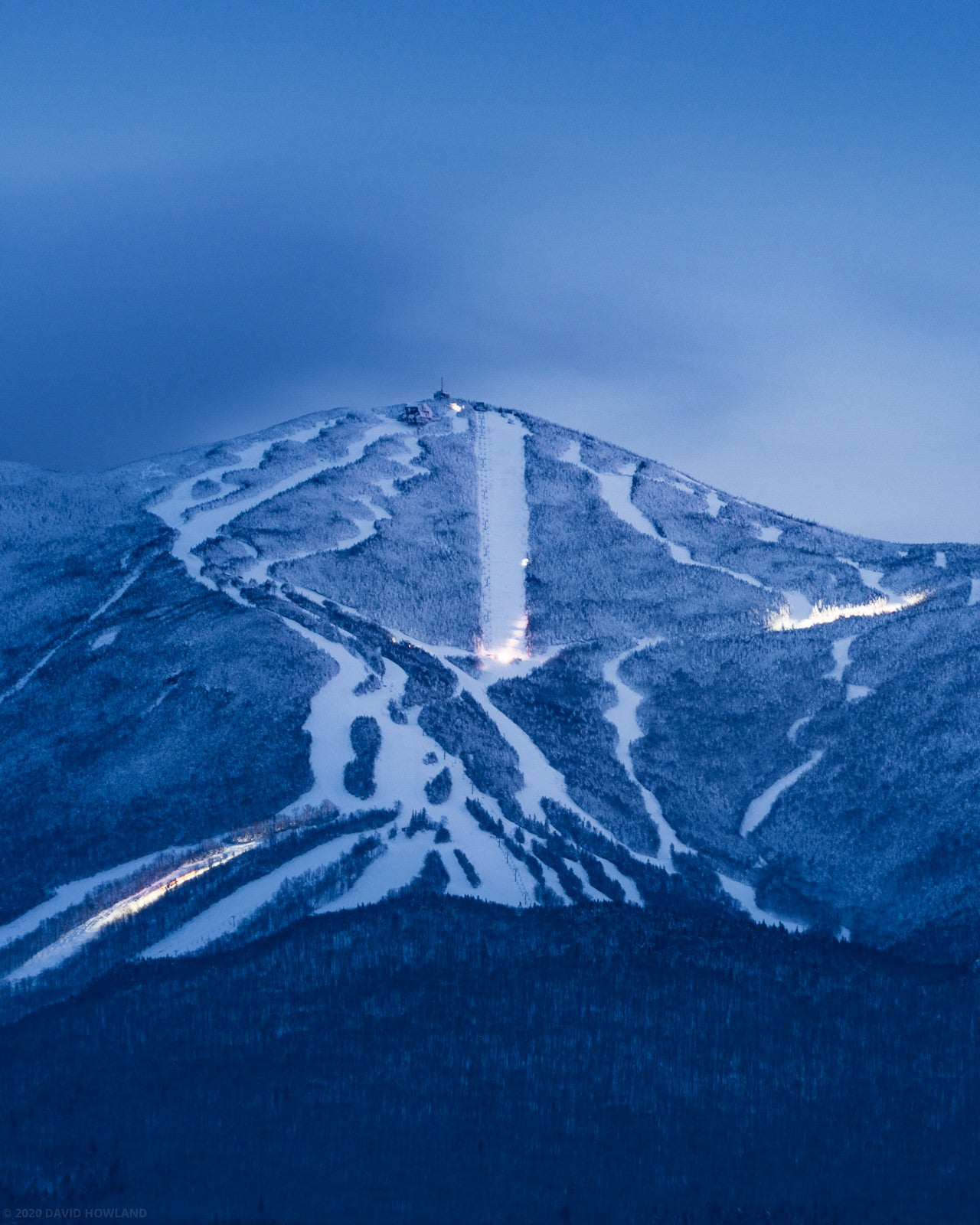 Blue Hour Grooming at Cannon Mountain