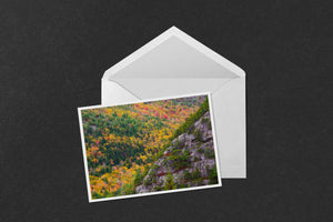 Acadia Cliffs and Trees Notecard