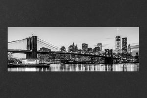 Black & White Brooklyn Bridge Panorama