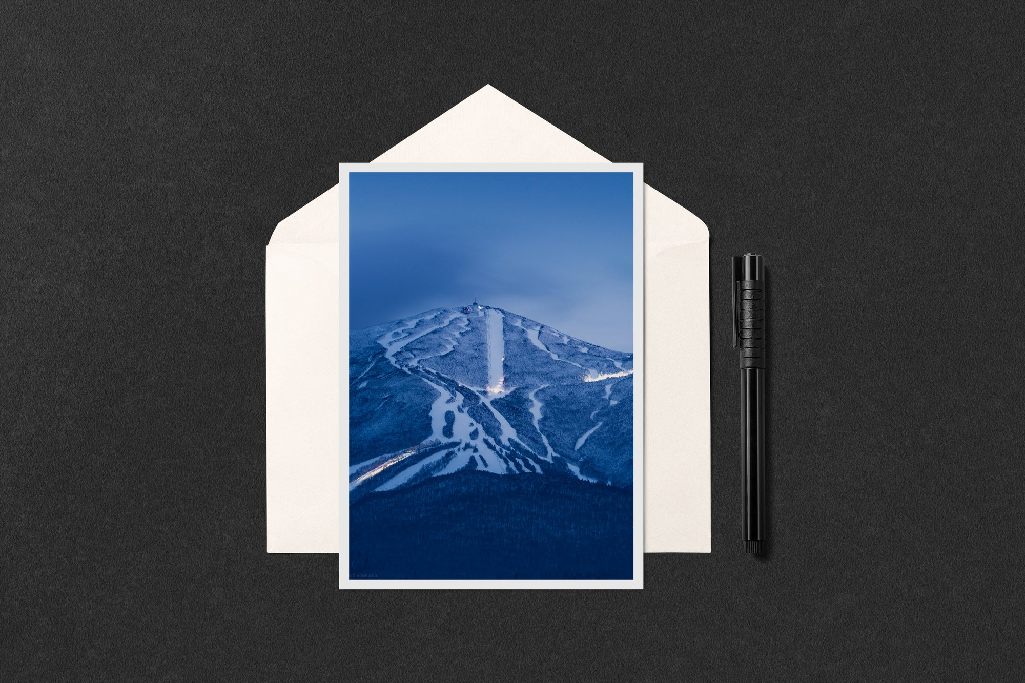 Blue Hour Grooming at Cannon Mountain Notecard