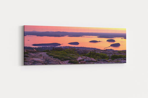 Cadillac Mountain Acadia National Park Sunrise Panorama