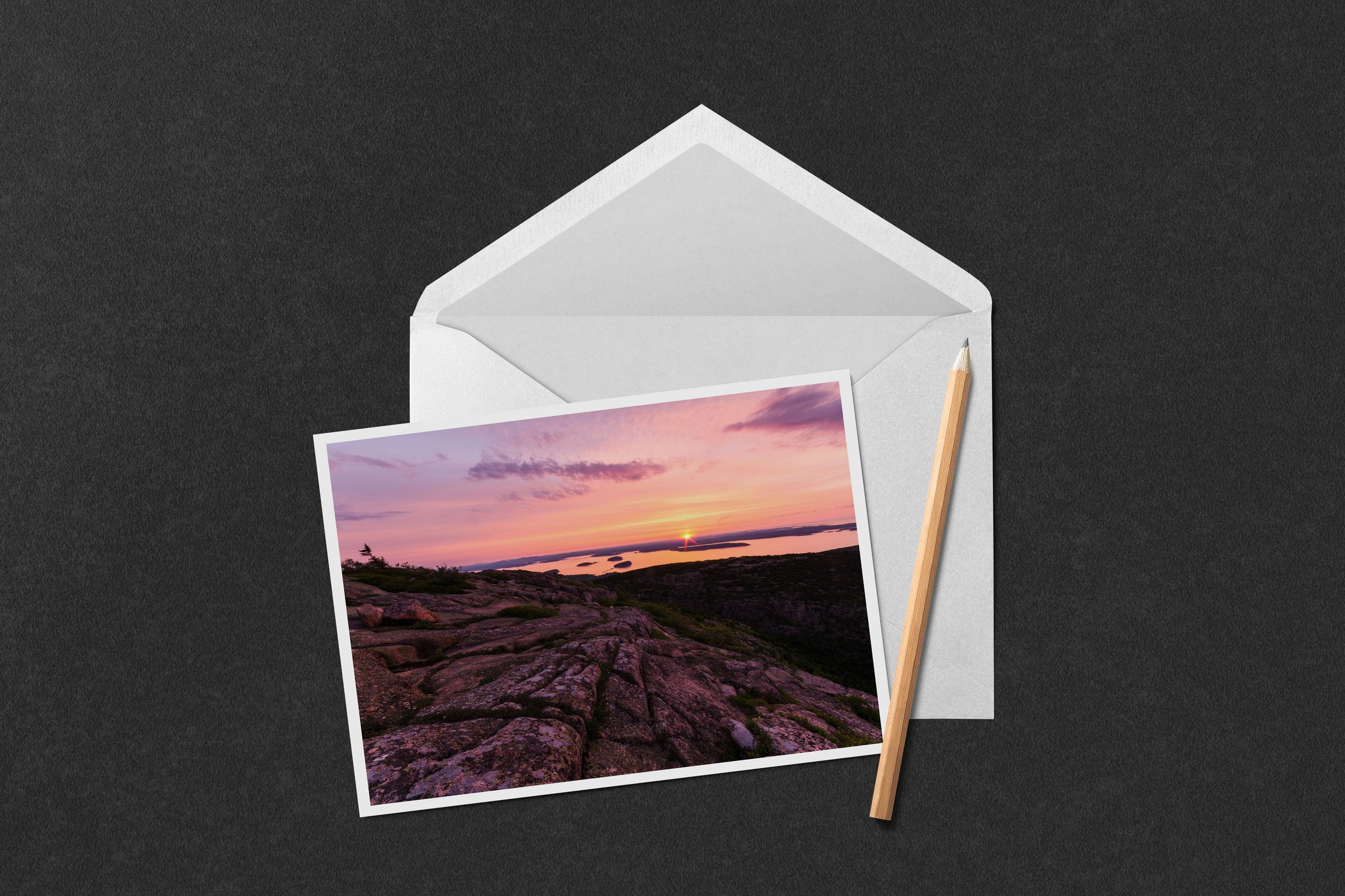 Cadillac Mountain Sunrise Notecard
