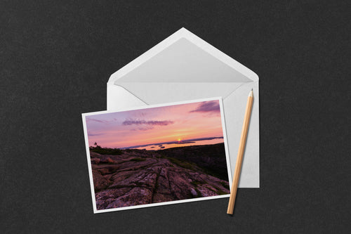 Cadillac Mountain Sunrise Note Card