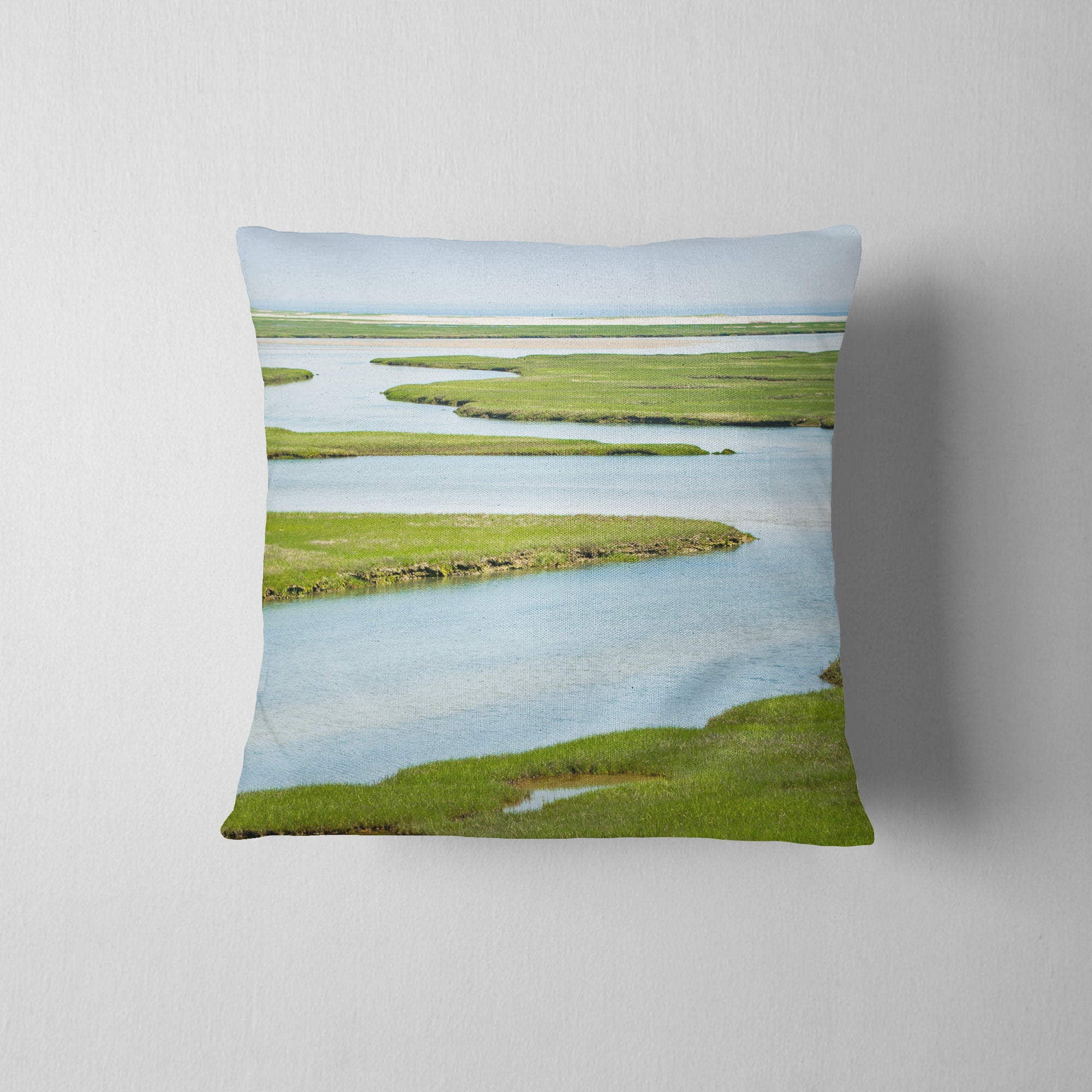 Fort Hill Waterways Throw Pillow
