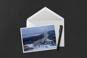 Frosty Tree on Middle Sugarloaf Mountain Notecard