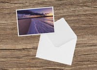 Frozen Cape Cod Sunset at Dowses Beach Note Card