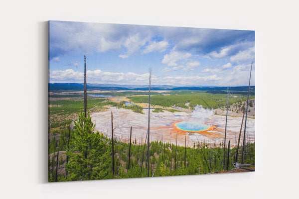 Grand Prismatic Spring Yellowstone National Park Canvas Gallery Wrap