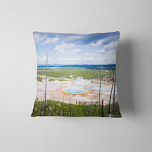 Load image into Gallery viewer, Grand Prismatic Spring Throw Pillow