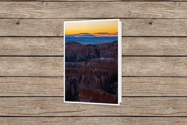 Inspiration Point Sunrise Bryce Canyon National Park Greeting Card