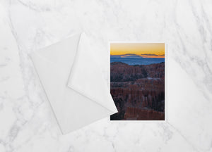 Inspiration Point Sunrise Bryce Canyon National Park Notecard