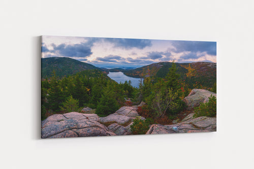 Jordan Pond Dawn Panorama - Acadia National Park, Maine