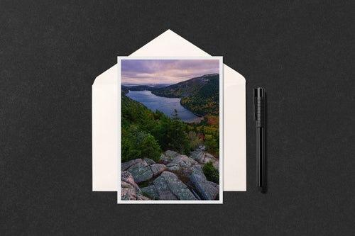 Jordan Pond Sunrise Greeting Card