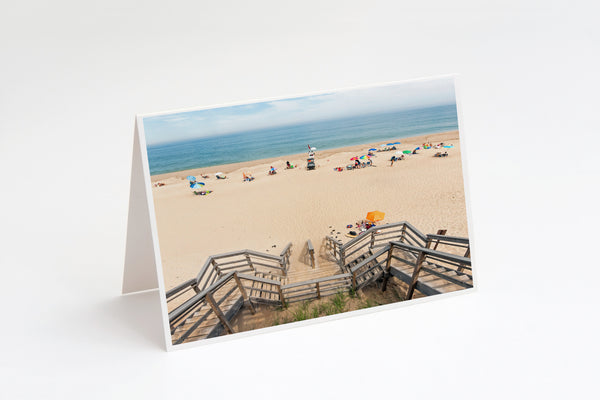 Nauset Lighthouse Beach Cape Cod National Seashore Greeting Card