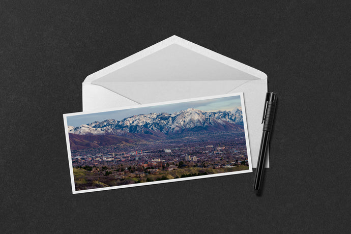 Salt Lake City and the Wasatch at Dusk Notecard