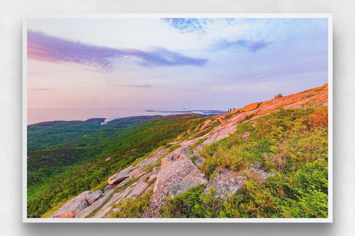 Sunrise over Cadillac Mountain Granite - Acadia National Park