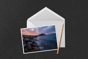 Winter Sunset at the Knob Notecard