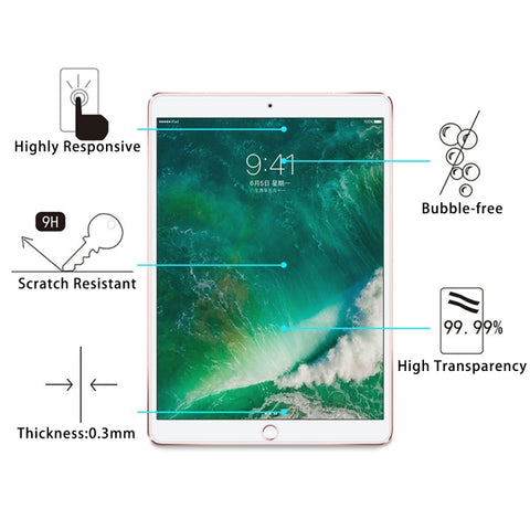 0.3mm 9H Surface Hardness Full Screen Tempered Glass Screen Protector for iPad Pro 10.5 inch / Air ?2019?