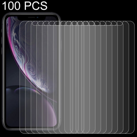 100 PCS 0.26mm 9H 2.5D Tempered Glass Film for  iPhone XR