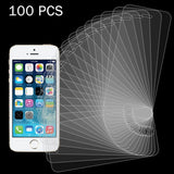 100 PCS for iPhone SE & 5s & 5C & 5 0.26mm 9H Surface Hardness 2.5D Explosion-proof Tempered Glass Screen Film