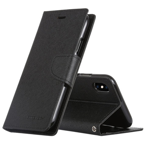 iPhone XS Max Horizontal Leather Flip Case with Holder