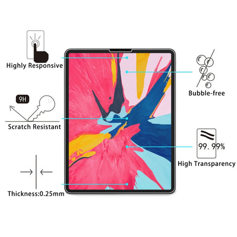 0.26mm 9H Surface Hardness 2.5D Explosion-proof Tempered Glass Film for iPad Pro 12.9 (2018)