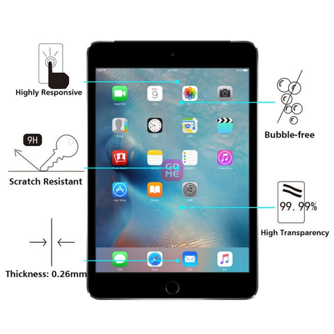 0.3mm 9H+ Surface Hardness 2.5D Tempered Glass Film for iPad 2 / iPad 3 / iPad 4