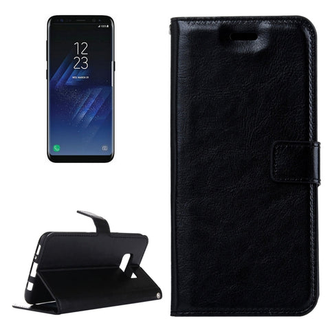 Galaxy S8 Retro Crazy Horse Texture Horizontal Flip Leather Case with Holder & Card Slots & Wallet & Photo Frame