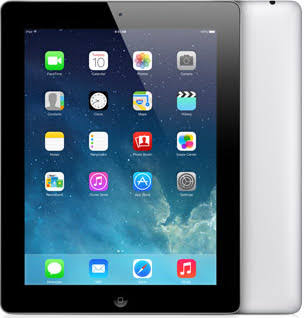 "Apple iPad 4th Gen (A1458) 9.7"" 64GB - Black, WiFi"