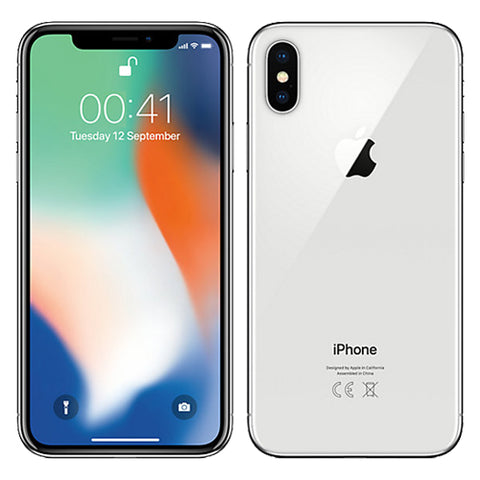 Apple iPhone X 64GB Silver Unlocked