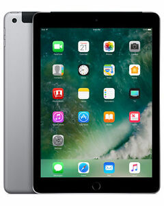 "Apple iPad 5th Gen (A1823) 9.7"" 32GB - Space Grey Cellular Unlocked IOS14"