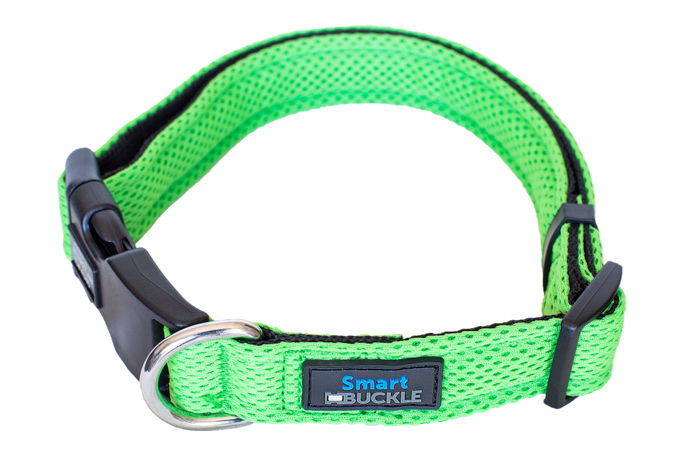 Lost Pet Recovery Collar Green Airmesh Plus+ (with Step Counter)