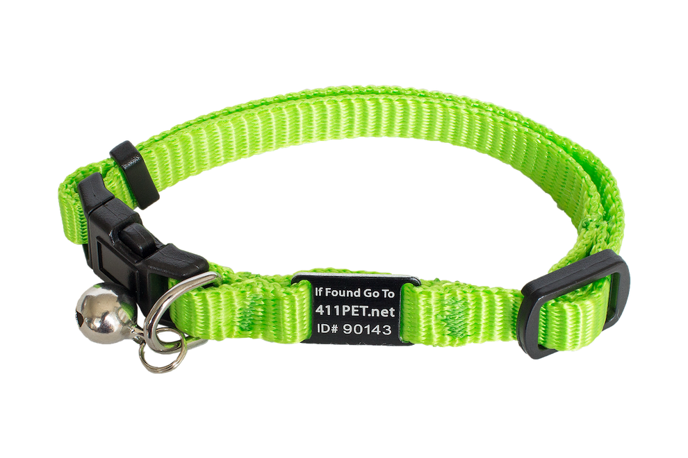 Standard Protective Pet Collar Lime Cat