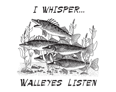 Walleye Whisper T Shirt