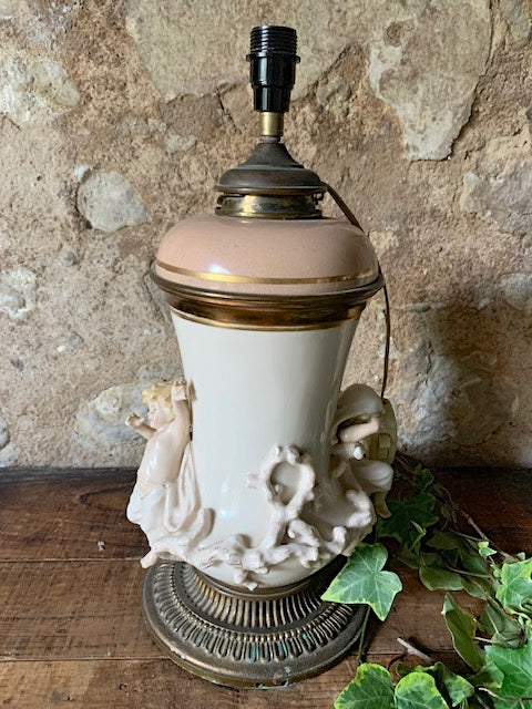Rare Antique Hinks & Son Converted Oil Lamp