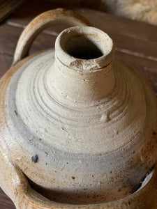 Antique French Stoneware Oil Jug