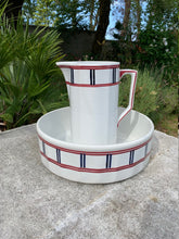 Load image into Gallery viewer, French Antique Ironstone Basin and Pitcher