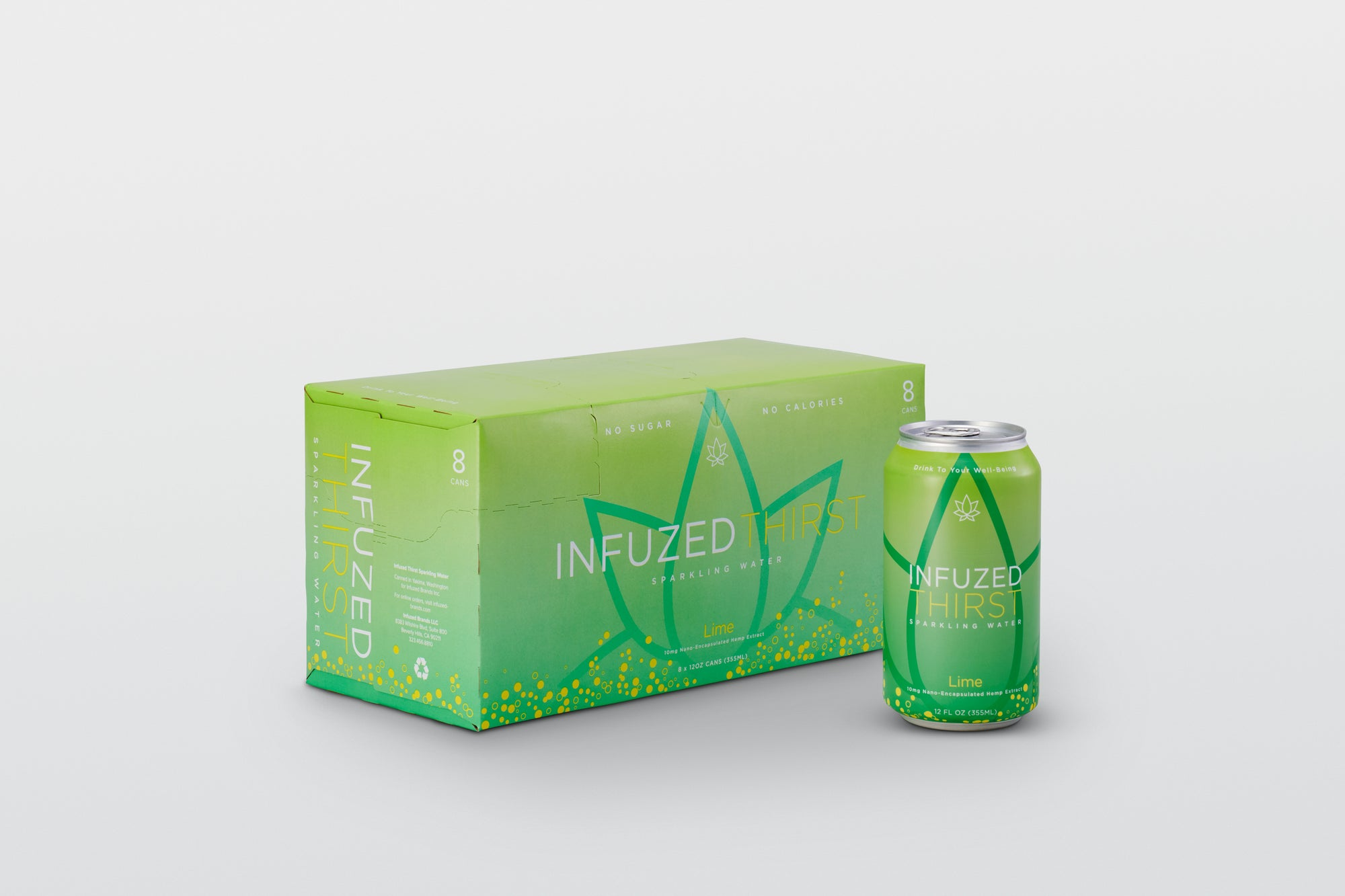 INFUZED THIRST Lime 8/pack