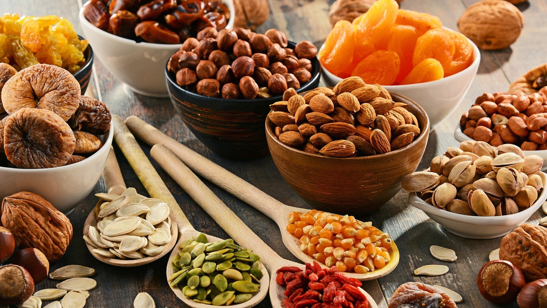 Collection of dry fruits
