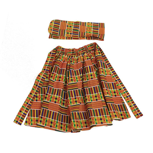 Kente Elastic Skirt #1 Womens Skirts