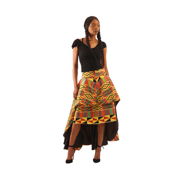Kente Hi-Lo 2-Pc Skirt Womens Skirts