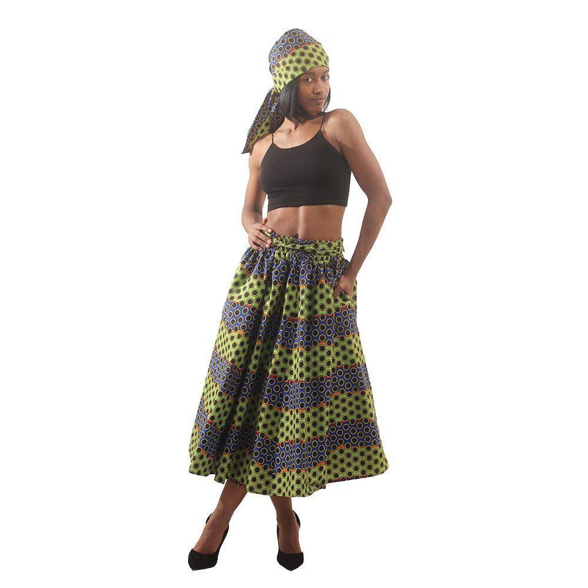 Multi-Color Dot Print Skirt Womens Skirts