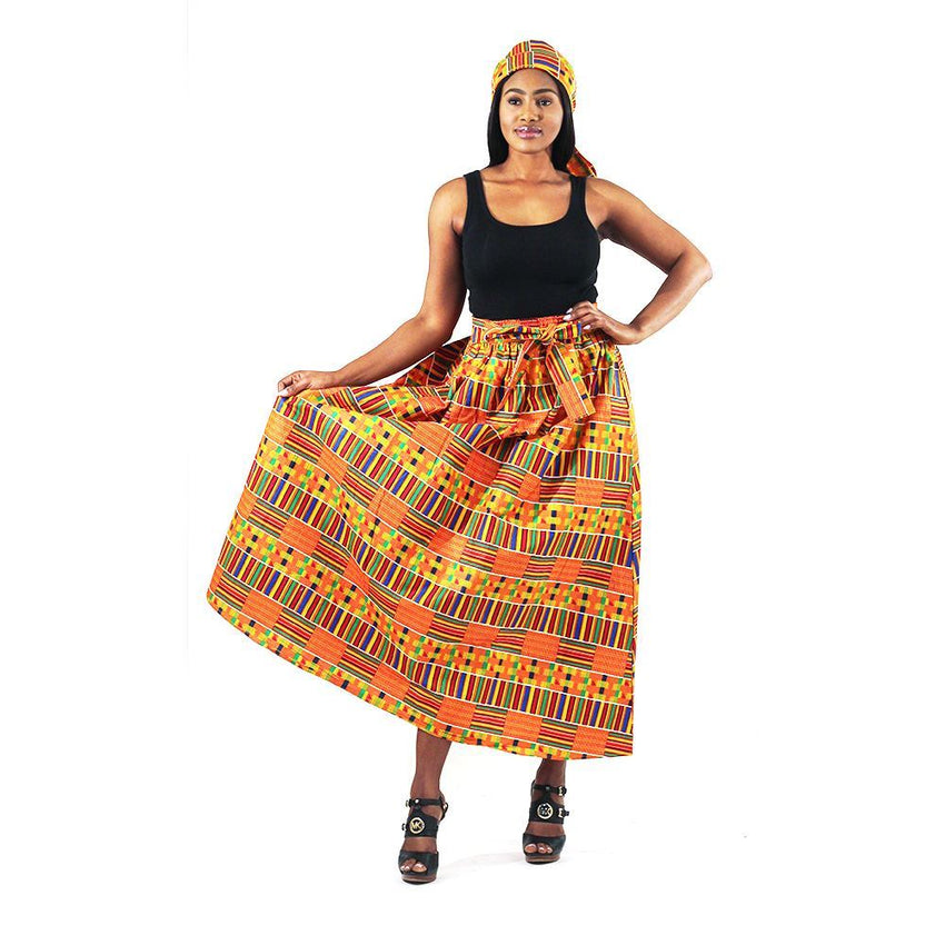 Kente #1 Panel Skirt Womens Skirts