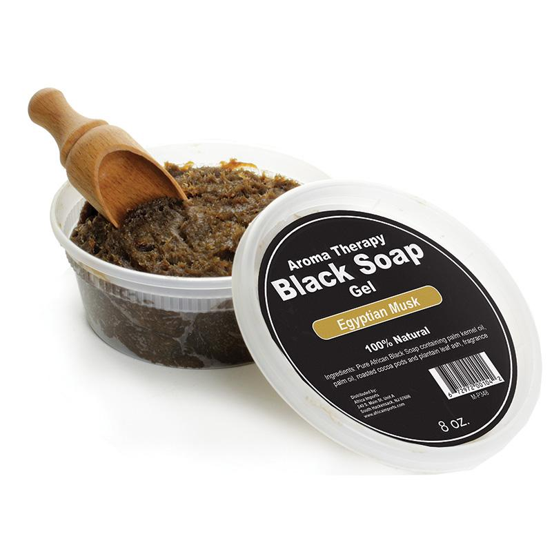 Aroma Therapy Black Soap Gel - 8 Oz. African