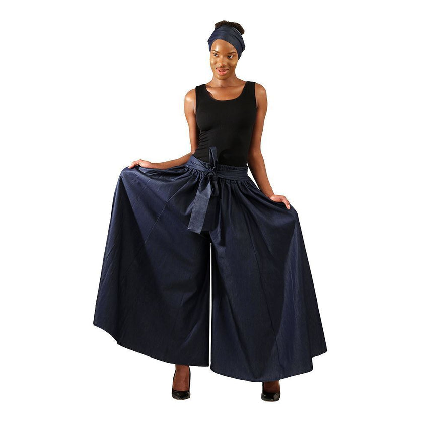 Denim Palazzo Pants African Pant Suits
